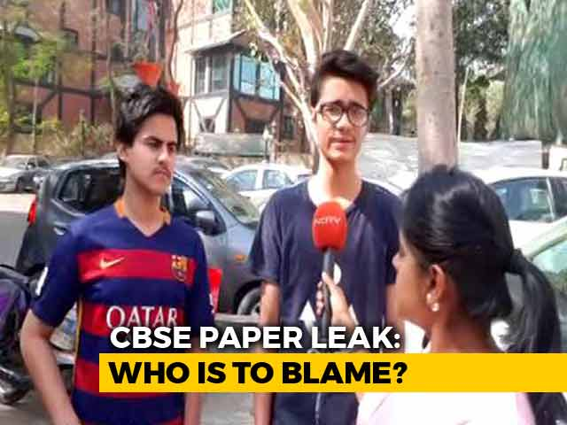 Video : CBSE Paper Leak: Has The Board Failed Its Students?