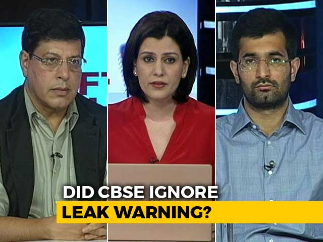 Video : CBSE Failed To Act On Tip-Offs: Should Its Chief Be Sacked?