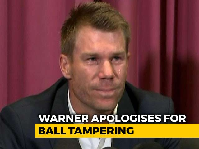Video : Warner Makes Tearful Apology, Admits 'May Never Play For Australia Again'