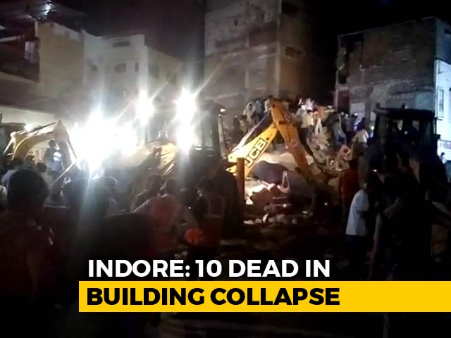 Video : 10 Dead As Four-Storey Building Housing Hotel Collapses In Indore