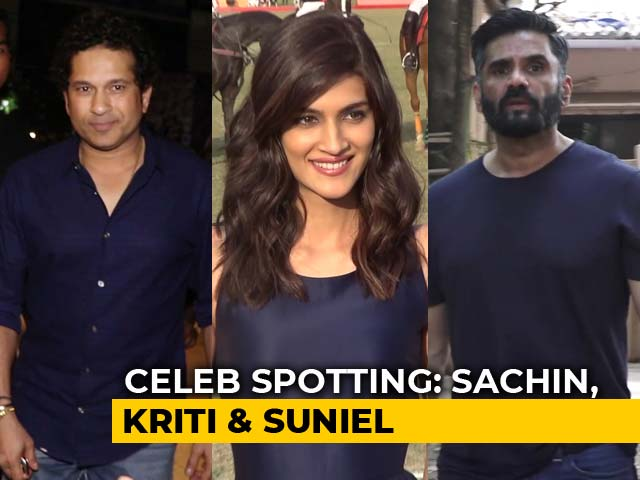Celeb Spotting: Sachin Tendulkar, Kriti Sanon, Suniel Shetty & Others