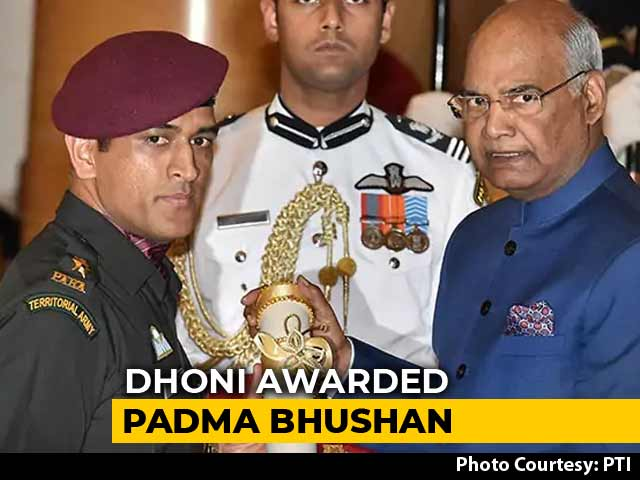 Video : Dhoni Receives Padma Bhushan On Same Day That India Lifted The World Cup in 2011
