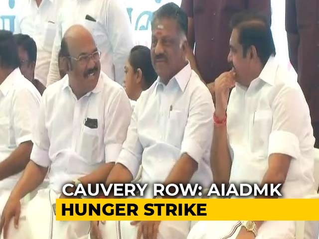 Video : Tamil Nadu Chief Minister, Deputy Join AIADMK's Statewide Hunger-Strike Over Cauvery Issue