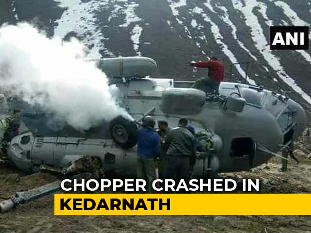Video : Air Force Helicopter Crash-Lands At Helipad Near Kedarnath Temple