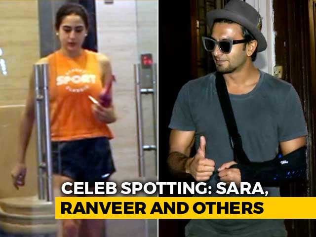 Video : Celeb Spotting: Sara Ali Khan, Ranveer Singh & Others