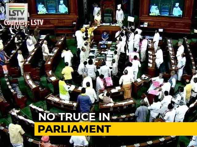 Video : Chandrababu Naidu Visits Parliament, Meets Opposition Leaders