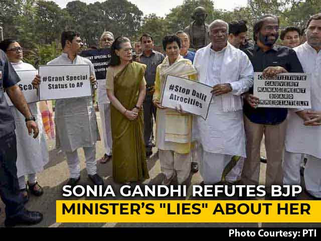 """Video : """"Such Lies From Minister"""": Sonia Gandhi To NDTV After Row In Parliament"""