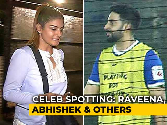 Video : Celeb Spotting: Abhishek Bachchan, Raveena Tandon & Others
