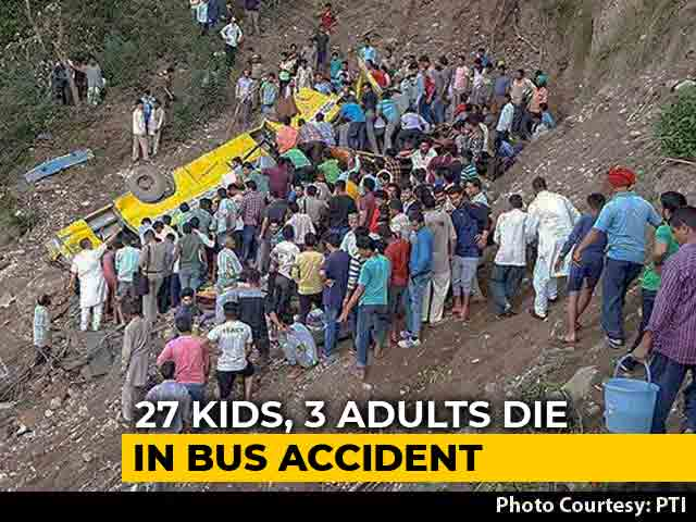 Video : 27 Children Dead As School Bus Falls Into Gorge In Himachal