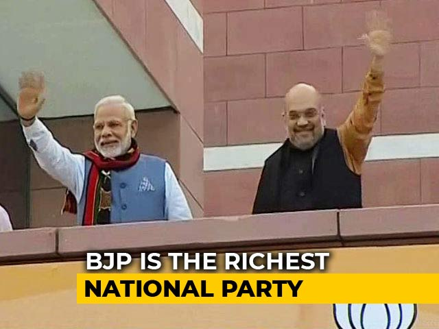 Video : BJP Richest National Party, With Rs. 1,034 Crore Declared Income: Report