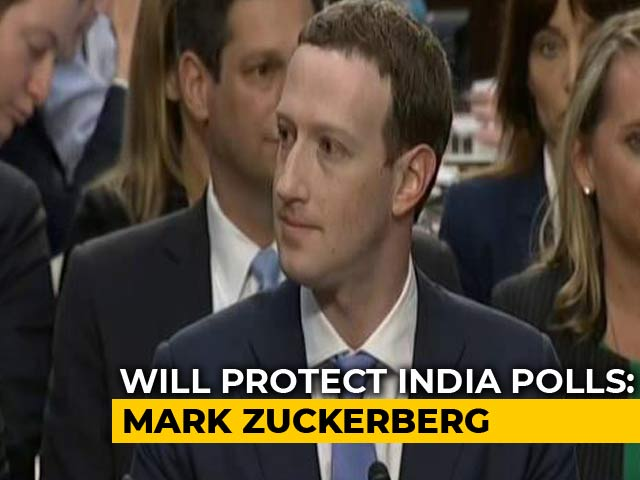 Video : Mark Zuckerberg Says Facebook Is Committed to Integrity of Elections in India