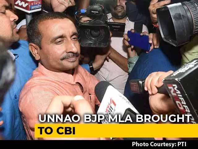 Video : Rape-Accused BJP Lawmaker Taken In For Questioning By CBI