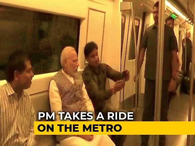 Video : PM Modi Takes Metro During Rush Hour, Riders Go Selfie-Happy