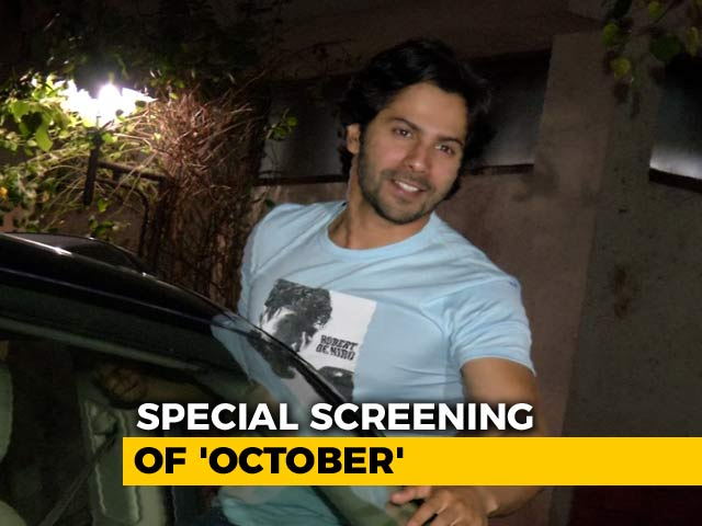 Special Screening Of Varun Dhawan's October