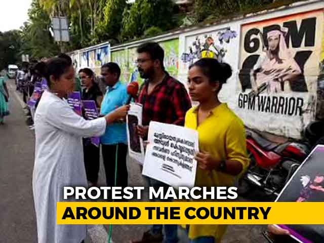 Video : In Thiruvananthapuram, A Human Chain Against Unnao, Kathua Child Rapes