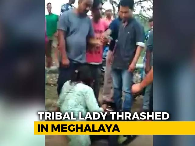 Video : On Video, Woman Kicked, Punched In Meghalaya By A Group Of Men