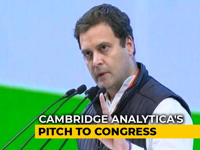 Video : Cambridge Analytica Pitched Congress Plan, Boss Met Rahul Gandhi: Sources