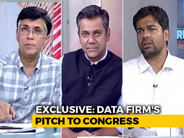 Video : NDTV Accesses Cambridge Analytica's Pitch To The Congress