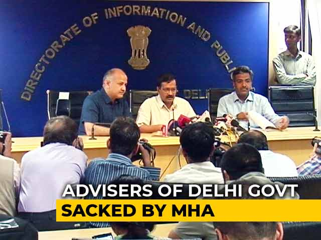 Video : 9 Arvind Kejriwal Aides Sacked By Centre, Worked For Rs 2.50, Says One
