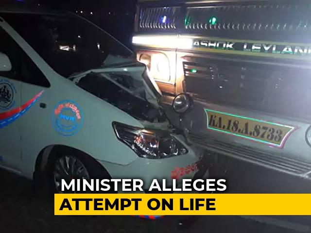 "Video : ""Attempt On My Life,"" Tweets Minister Anant Hegde After Truck Hit Convoy"