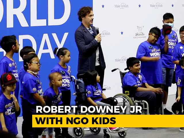 Robert Downey Jr Takes The Avengers Oath With NGO Kids