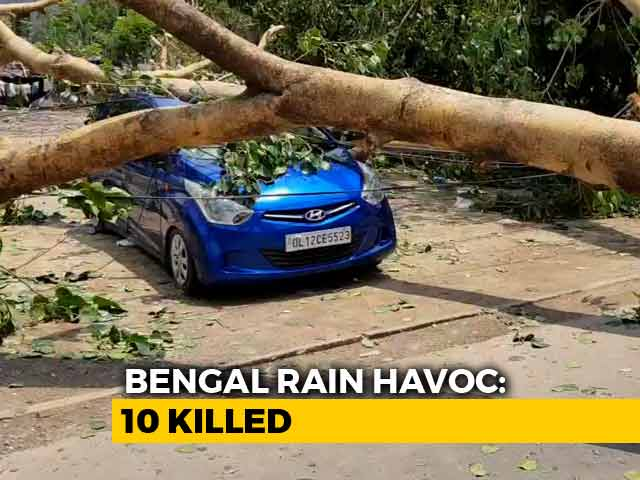 Video : 10 Dead As Heavy Rain, Strong Winds Hit Bengal; Flights, Trains Affected In Kolkata