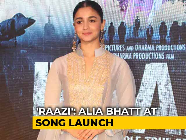 Raazi: Alia Bhatt At Ae Watan Song Launch