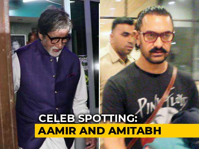 Celeb Spotting: Aamir Khan, Amitabh Bachchan & Others