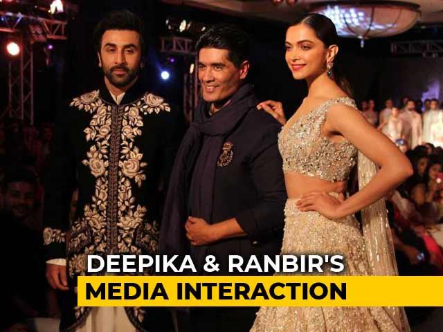 Video : Deepika & Ranbir On Setting The Ramp On Fire