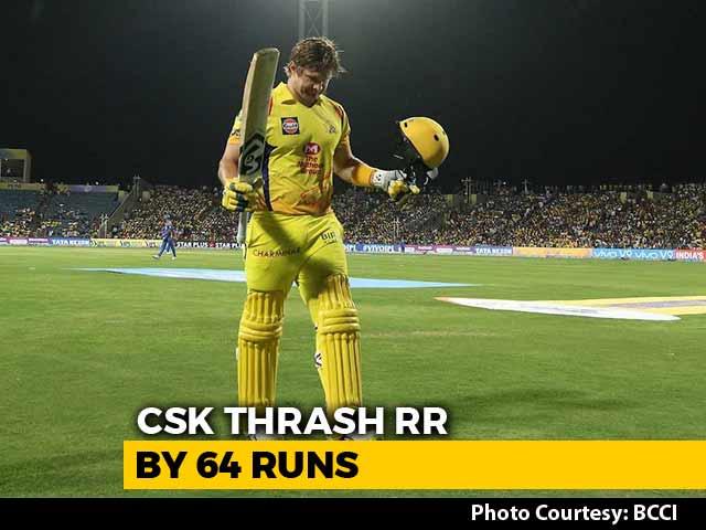 Shane Watson Ton Propels Chennai Super Kings To A 64-Run Win Over Rajasthan Royals