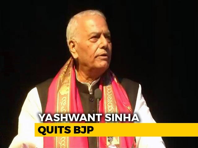 "Video : Yashwant Sinha Quits BJP, Says ""Taking Sanyas From Party Politics"""