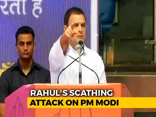 """Video : """"Modi <i>Ji</i> Is Only Interested in Modi <i>Ji</i>,"""" Rahul Gandhi Takes Swipe At PM"""