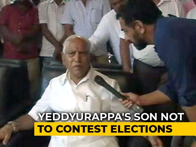 Video : BS Yeddyurappa Says Son Vijayendra Won't Contest From Varuna