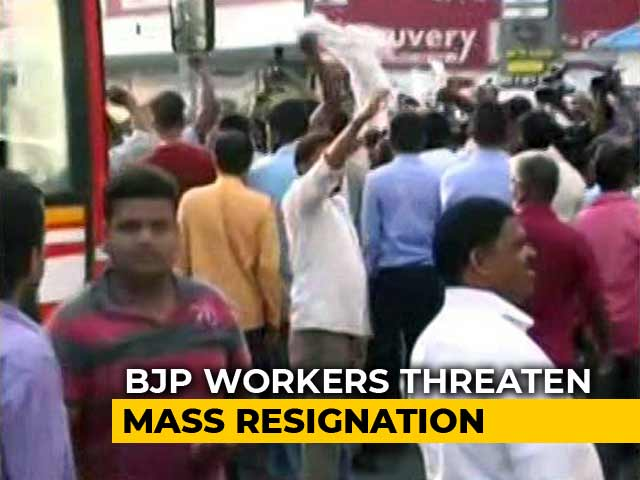 Video : Yeddyurappa Jr Not To Contest Election, BJP Workers Erupt In Protest