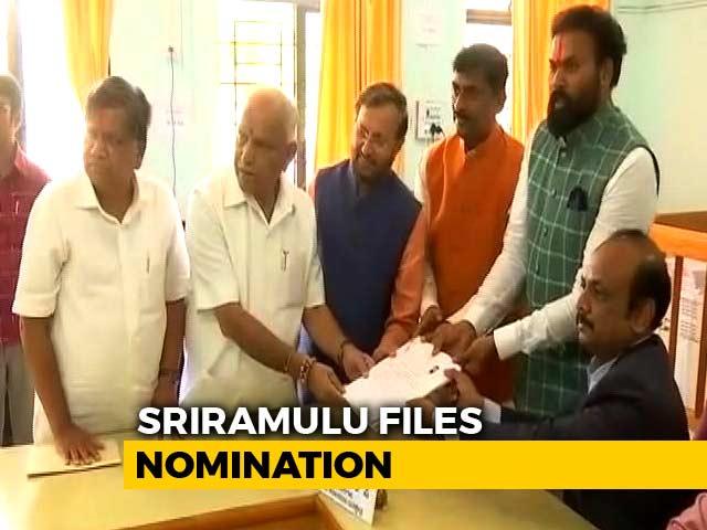 Video : BJP Picks B Sriramulu To Challenge Siddaramaiah In His 'Back-up' Badami