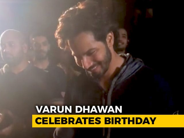 Varun Dhawan Celebrates His Birthday On Kalank Sets