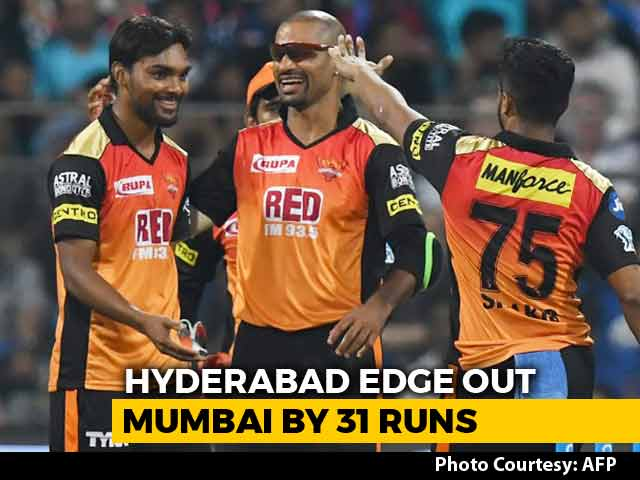 Video : Hyderabad Beat Mumbai Indians By 31 Runs In A Thriller