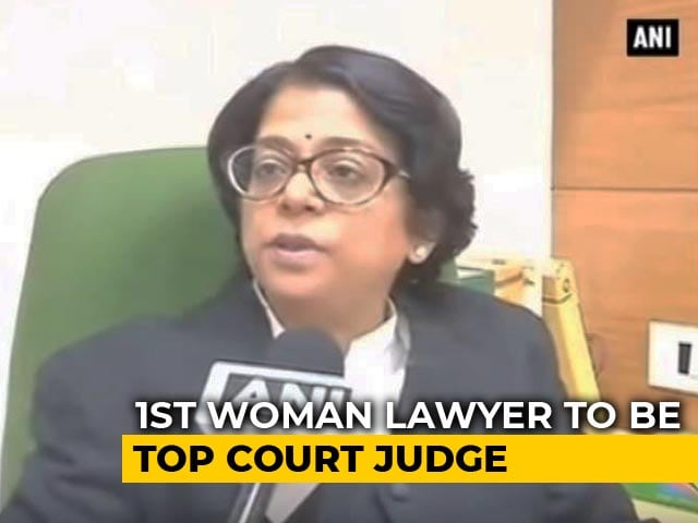 Video : Indu Malhotra Will Be First Woman Lawyer Appointed As Supreme Court Judge
