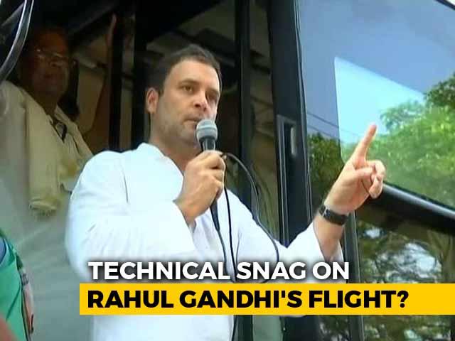 "Video : After Flight Scare, Team Rahul Gandhi Alleges ""Intentional Tampering"""