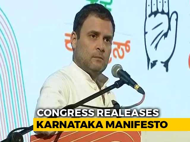"Video : Rahul Gandhi Says Congress' Karnataka Manifesto Is ""People's Mann Ki Baat"""
