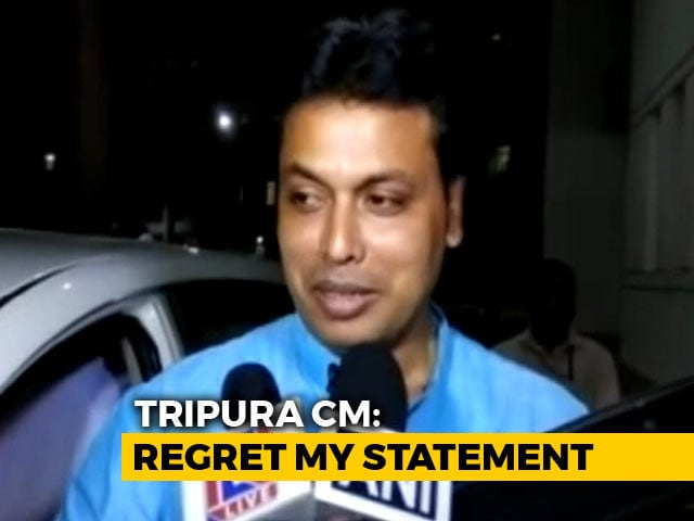 Video : To Diana Hayden Brown-And-Proud Rebuke, Tripura Chief Minister's Apology