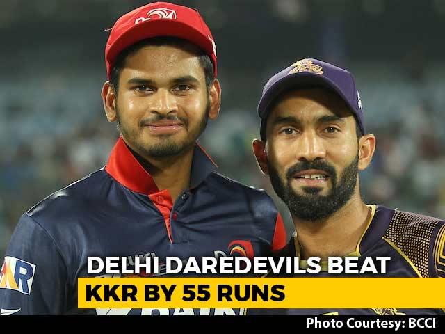 Video : IPL 2018: Shreyas Iyer Blitzkrieg Leads Delhi Daredevils To A 55-Run Win Over KKR