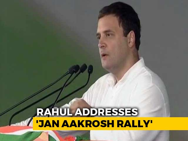 Video : Congress Will Win In 2019, Rahul Gandhi Declares At Mega Delhi Rally