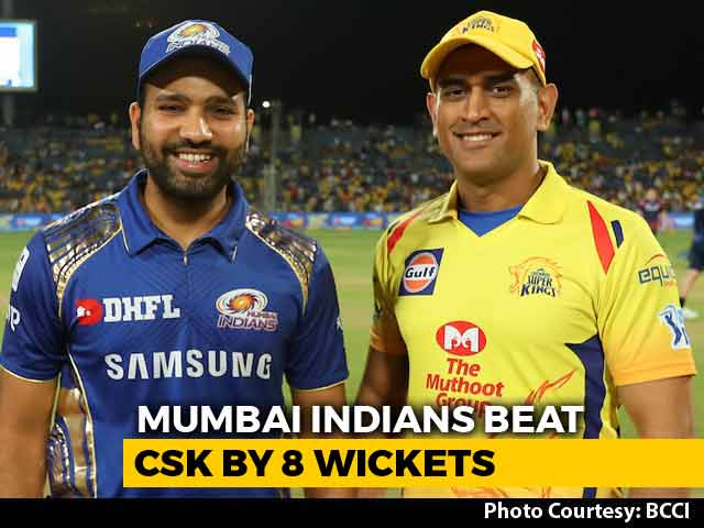 Video : IPL 2018: Mumbai Indians Cruise To victory Against Table-Toppers Chennai Super Kings