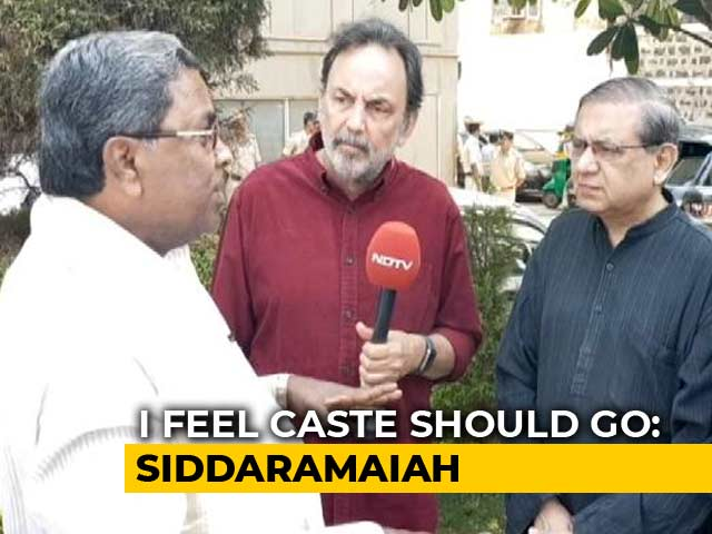 Video : Caste Still A Factor, Says Siddaramaiah On 2018 Karnataka Elections
