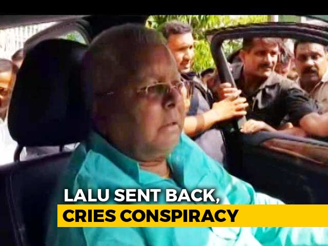 """Video : Lalu Yadav Protests Release By AIIMS, Screams Conspiracy By """"PM Modi"""""""