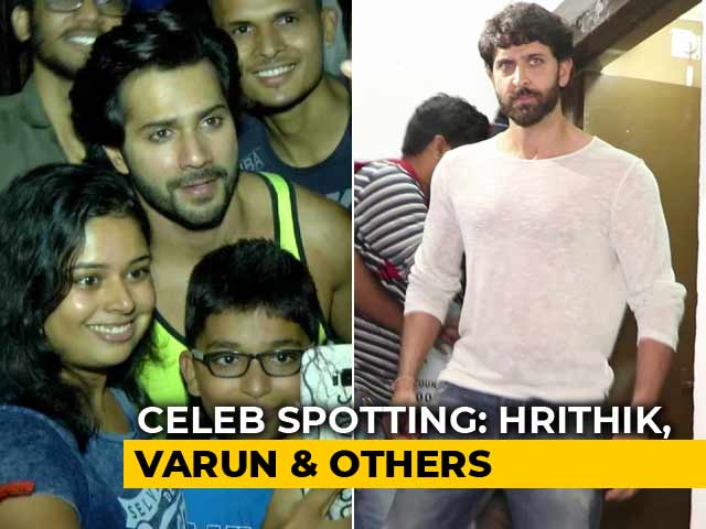Video : Celeb Spotting! Hrithik Roshan, Varun Dhawan & Others