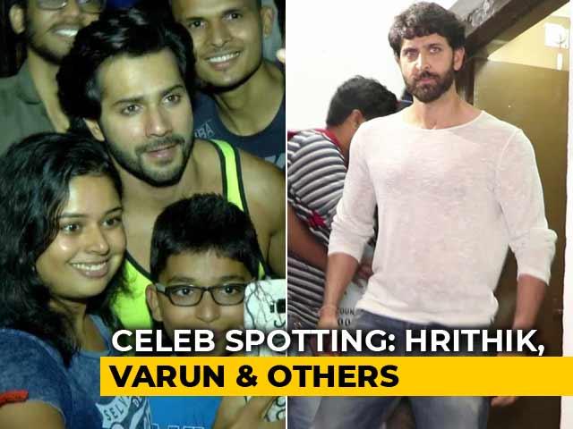 Celeb Spotting! Hrithik Roshan, Varun Dhawan & Others