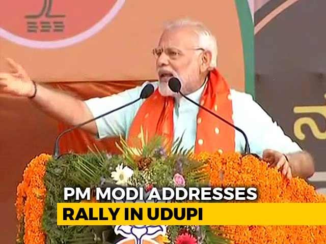 "Video : ""Ease Of Doing Murder In Congress Rule,"" Says PM In Karnataka's Udupi"