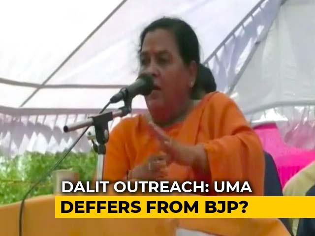 Video : I Don't Do Mass Meals, Blessed If Dalits Come To My Home: Uma Bharti